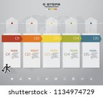 5 steps timeline infographic... | Shutterstock .eps vector #1134974729