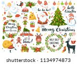 set of christmas and new year... | Shutterstock .eps vector #1134974873