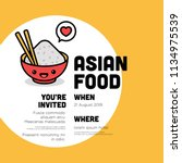asian food invitation design... | Shutterstock .eps vector #1134975539