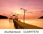 path to the night nightfall by... | Shutterstock . vector #113497570
