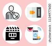 simple 4 icon set of web... | Shutterstock .eps vector #1134977600