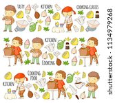 cooking class  courses for... | Shutterstock .eps vector #1134979268