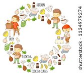 cooking class  courses for... | Shutterstock .eps vector #1134979274
