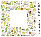 cooking class  courses for... | Shutterstock .eps vector #1134979280