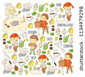 cooking class  courses for... | Shutterstock .eps vector #1134979298