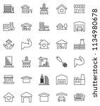 thin line vector icon set  ... | Shutterstock .eps vector #1134980678