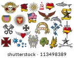 big tattoo collection  elements ... | Shutterstock . vector #113498389