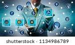 unrecognizable corporate micro...   Shutterstock . vector #1134986789