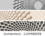 abstract aquatic banners with... | Shutterstock .eps vector #1134988358