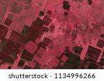 contemporary art. hand made art.... | Shutterstock . vector #1134996266