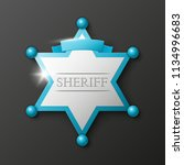 wild west sheriff metal gold... | Shutterstock .eps vector #1134996683