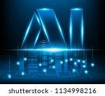 ai letter digital artificial... | Shutterstock .eps vector #1134998216