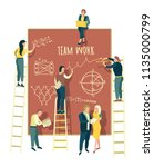team work. business vector...   Shutterstock .eps vector #1135000799
