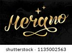 hand drawn gold lettering text... | Shutterstock .eps vector #1135002563