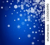snowflake border for christmas... | Shutterstock .eps vector #1135003490