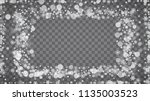 isolated snowflakes on... | Shutterstock .eps vector #1135003523