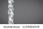 isolated snowflakes on... | Shutterstock .eps vector #1135003529