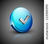 glossy 3d web 2.0 check mark... | Shutterstock .eps vector #113500390