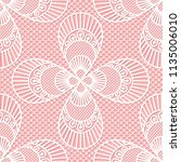 seamless decorative lace... | Shutterstock .eps vector #1135006010