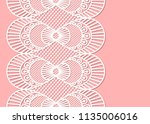 seamless decorative lace border ... | Shutterstock .eps vector #1135006016