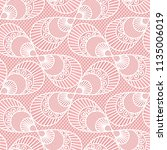 seamless decorative lace... | Shutterstock .eps vector #1135006019
