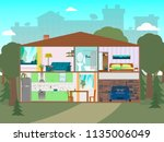 the house is in a section. a... | Shutterstock .eps vector #1135006049