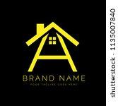 real estate letter a logo... | Shutterstock .eps vector #1135007840
