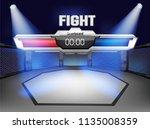 empty cage martial arts... | Shutterstock .eps vector #1135008359