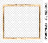 square brown wooden border...   Shutterstock .eps vector #1135008380