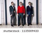 the three businessmen on... | Shutterstock . vector #1135009433