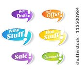hot deals tags and labels | Shutterstock .eps vector #113500984