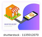 online pizza delivery concept...