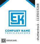 ek initial box letter logo... | Shutterstock .eps vector #1135015268