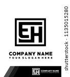 eh initial box letter logo... | Shutterstock .eps vector #1135015280