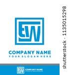 ew initial box letter logo... | Shutterstock .eps vector #1135015298