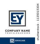 ey initial box letter logo... | Shutterstock .eps vector #1135015304