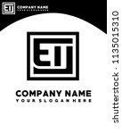 eu initial box letter logo... | Shutterstock .eps vector #1135015310