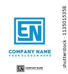 en initial box letter logo... | Shutterstock .eps vector #1135015358