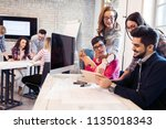 picture of young architects... | Shutterstock . vector #1135018343