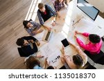 picture of young architects... | Shutterstock . vector #1135018370