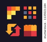 abstract logo. pixel art icons... | Shutterstock .eps vector #1135021184