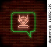 raster neon chat bot on brick...