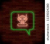 neon chat bot on brick...