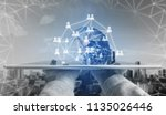 networking and communication... | Shutterstock . vector #1135026446