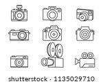 camera icons on white...