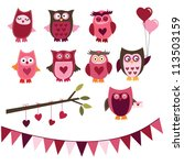 Cute Valentine Owls