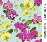 seamless tropical pattern with... | Shutterstock .eps vector #1135032413