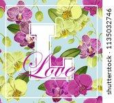 love romantic floral spring... | Shutterstock .eps vector #1135032746