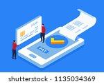 smartphone mobile payment | Shutterstock .eps vector #1135034369