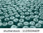 cubes beads letters alphabet  ... | Shutterstock . vector #1135034609
